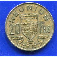 Реюньон 20 франков 1955