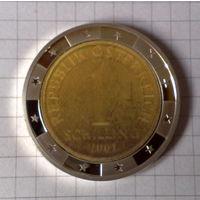 Валюты Европы 1 шиллинг 2001г. стерео-вставка