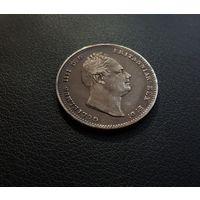 Англия 1 шиллинг 1834 (серебро)