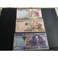 Сьерра Леоне банкноты 3 шт
