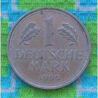 Германия 1 марка 1990 года. Монетный двор J. Инвестируй выгодно в монеты планеты!