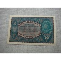 10 марок 1919 Польша aUnc