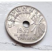 Испания 25 сентимо, 1937 4-9-8