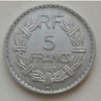 Франция 5 франков 1949 (B) _ km#888b.2 (разн-2)_БОЛЬШАЯ