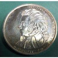 Германия 10 евро 2006 D Вольфганг Моцарт 250 лет со дня рождения Ag 925 18 гр