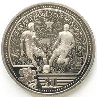 Британские Виргинские Острова 1 доллар 2018 года. FIFA World Cup Russia