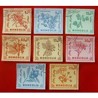 Монголия. Флора. ( 8 марок ).