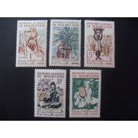 Мавритания. Mi:MR 164,165,168,173,174 - 1960 год (народные мотивы)