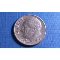 10 центов (дайм) 1966. США.