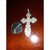 Крестик Эмаль серебро 84
