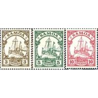 Флот парусник Германия Колонии Самоа 1901 Яхта Гогенцоллерн Стандарт #7-9 MHG MH *