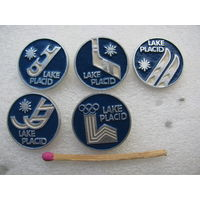 Значки. Зимние Олимпийские игры в Лейк Плесиде. 1980 г. цена за 1 шт.