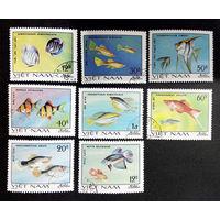 Вьетнам 1980 г. Аквариумные рыбки. Фауна, полная серия из 8 марок #0228-Ф1P52