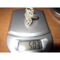 Кольцо 19 р. 925 Вес 5.03 гр.