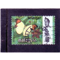 Малайзия. Селангор. Mi:MY-SE 109. Большой оранжевый Tip (Hebomoia glaucippe ssp. Aturia)/ 1971/
