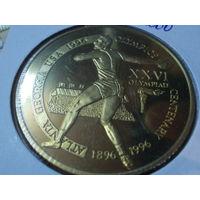 """Танзания 2000 шиллингов 1996.Олимпийские Игры в Атланте """"Дискобол"""" ."""
