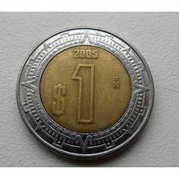 1 песо Мексика 2005 года - из коллекции