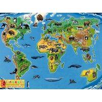 Паззл Карта животного мира , Равенсбургер,200 эл.