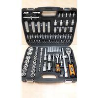 "Набор инструментов ""BLACK"" в кейсе (Германия, 108 предметов: отвертки, ключи, головки)."