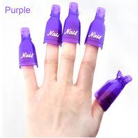 Пластиковые зажимы для снятия гель-лака для ногтей