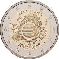 Нидерланды 2 евро (10 лет наличному обращению евро), 2012