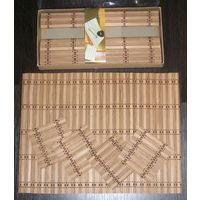Набор салфеток под тарелки из бамбука на 4 персоны