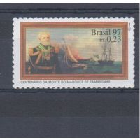 [379] Бразилия 1997. Корабли,парусники.
