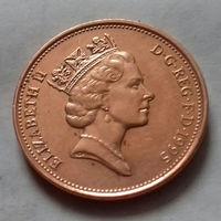 2 пенса, Великобритания 1995 г., AU