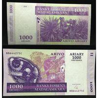 Банкноты мира. Мадагаскар, 1000 ариари