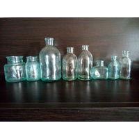 Старые медицинские бутылки одним лотом