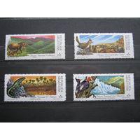 Марки - фауна, Аргентина, 1989, 4 шт., звери, птицы