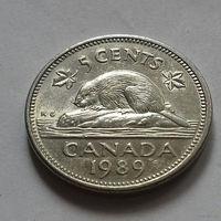 5 центов, Канада 1989 г.