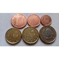 Набор евро монет Испания 2004 г. (1, 2, 5, 10, 20 евроцентов, 1 евро)