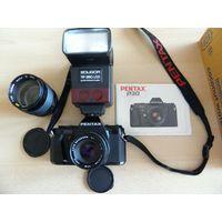 Фотоаппарат pentax p30+3 объектива + вспышка