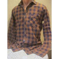 Клетчатая теплая мужская рубашка из Германии