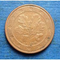Германия 5 евроцентов 2010 A