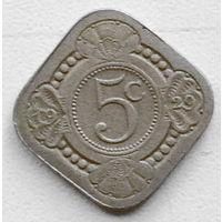 Нидерланды 5 цент 1929