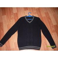 Пуловер делового стиля на парня ростом 150-158 см