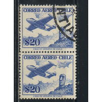 Чили Авиа 1956 Самолет над моаи о.Пасхи Стандарт Пара #513