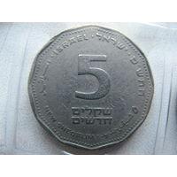 Израиль 5 новых шекелей 2000 г.