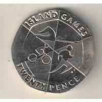 Гибралтар 20 пенс 2019 Островные игры