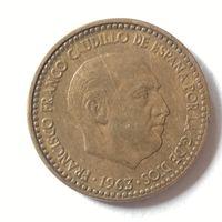 Испания, 1 песета 1963 г. (63)