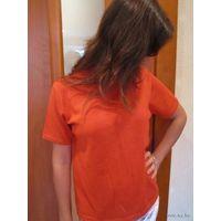 Модно оранжевый свитерок Париж р.48-50