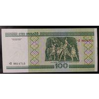 100 рублей 2000 года, серия чВ - UNC