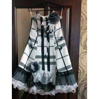 Вечернее платье, 44-46р-р, бело-черное