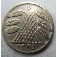 Германия. 10 рентенпфеннигов 1923 D. Довольно редкие .82
