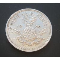 Багамские острова. Багамы. 5 центов. 1966г.