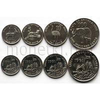 Эритрея 4 монеты 1991-1997 годов. Животные