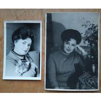 Два фото женщины. 1970-80е. 13х18 см и 9х14 см. Цена за оба.