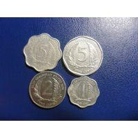 Карибы (Карибские острова) 4 монеты одним лотом